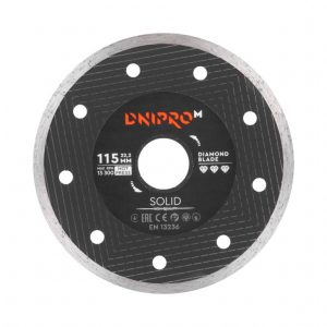 Алмазний диск Dnipro-M 115 Solid